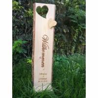 Holzstele Türschild nach deinem Wunsch! Bild 1