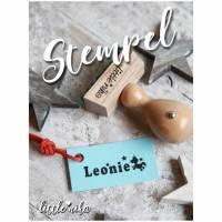 Stempel - Kind Name - Einhorn Sterne  -Namensstempel personalisiert / Geschenk für Mädchen Bild 1