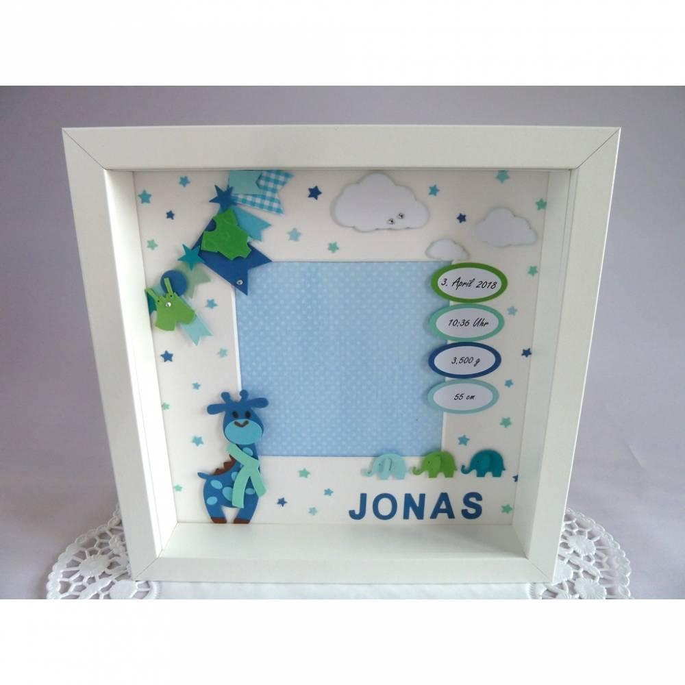 Geburtsrahmen/Geschenk zur Geburt/Taufe, Rahmen personalisiert/individualisierbar mit den Geburtsdaten Bild 1