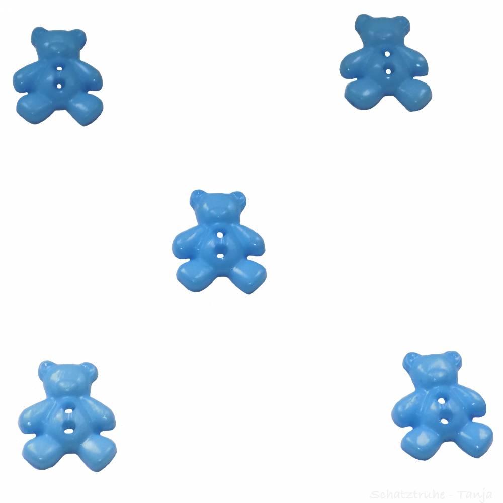 Kinderknöpfe Bären als Kunststoffknöpfe in dunkelblau 20 mm Bild 1