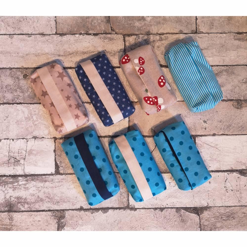Genähte Taschentuchhülle aus Baumwollstoff in verschiedenen Designs Bild 1