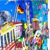 Berlin 3D pop art städte wand bild Reichstag Brandenburger Tor fine art limited edition städtebilder Bild 2