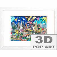 New York City 3D pop art skyline bild papier kunst mixed media geschenk souvenir manhattan big apple  Bild 1