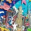 New York City 3D pop art skyline bild papier kunst mixed media geschenk souvenir manhattan big apple  Bild 3