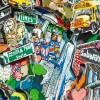 New York City 3D pop art skyline bild papier kunst mixed media geschenk souvenir manhattan big apple  Bild 4