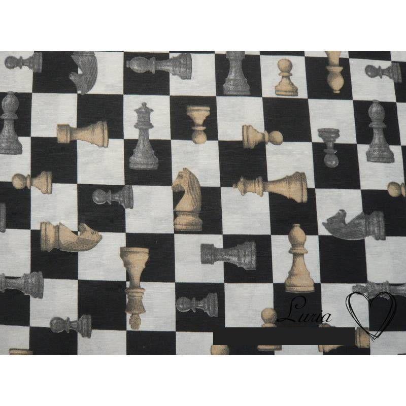 10,70 EUR/m Dekostoff Schach Schachspiel Schachbrett Schachfiguren Bild 1