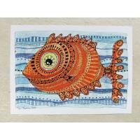 Digitaldruck A4, Bild oranger Fisch Bild 1