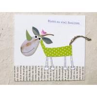 kleines Bild, Papiercollage, Papierkunst, Collagen-Tier Bild 1
