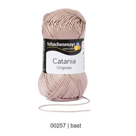 Schachenmayr Catania - 100 % Baumwolle - 50 g Knäuel  - Farbe 257 bast Bild 1
