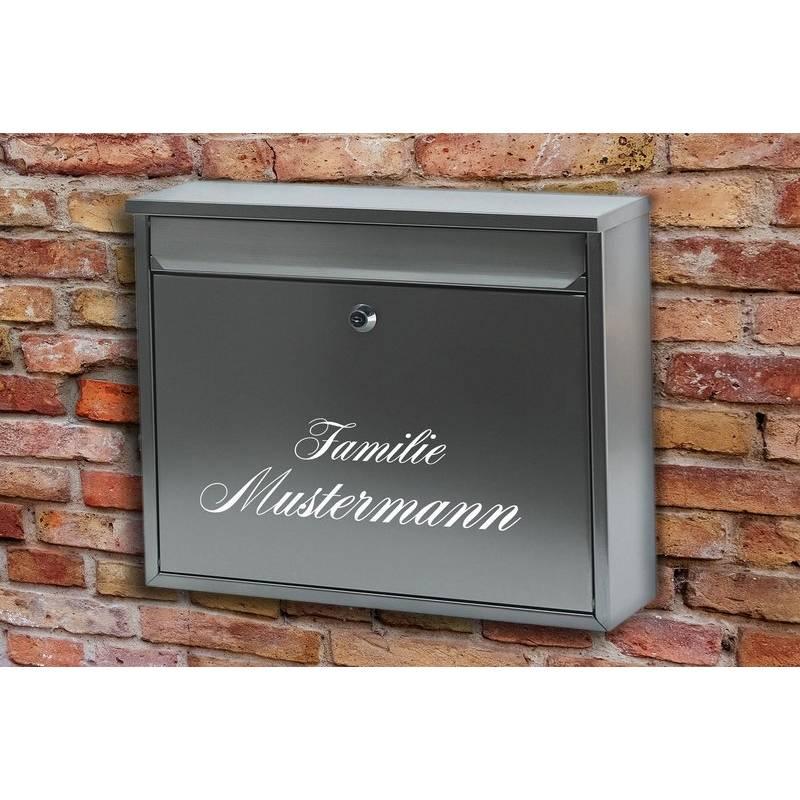 """Briefkasten Namensschild """"Familie"""", Aufkleber, Sticker,Tattoo wasserfest Bild 1"""