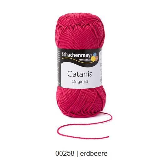 Schachenmayr Catania - 100 % Baumwolle - 50 g Knäuel  - Farbe 258 erdbeere Bild 1