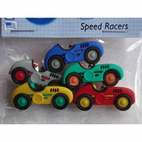 Dress it up Knöpfe  Rennautos  (1 Pck.)  Speed Racers