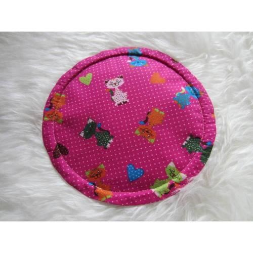 Wurfscheibe Flugscheibe Fangscheibe - pink - Katzen