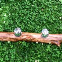 Treibholz Hängeleuchter für 4 Kerzen, mit silbern schimmernden Kerzengläsern, rustikal Bild 6