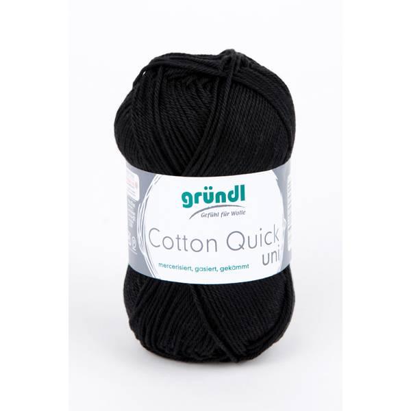 Cotton Quick Uni - 100 % Baumwolle - 50 g Knäuel  - Farbe 11 schwarz Bild 1