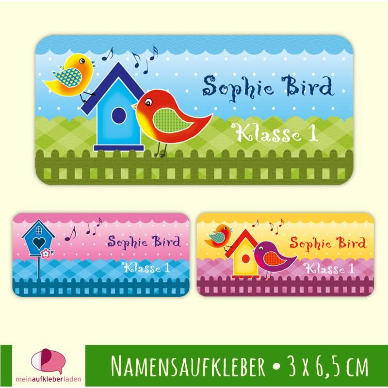 24 Namensaufkleber   Sweety Bird - 3,0 x 6,5 cm Bild 1