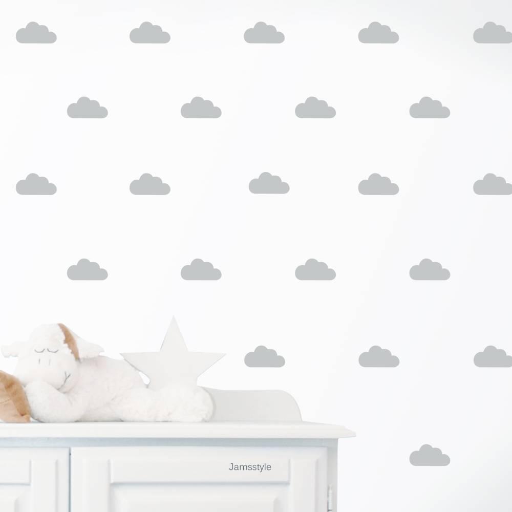 """Wandtattoo Wandsticker """"Wolken""""  5 Größen, individualisierbar Bild 1"""
