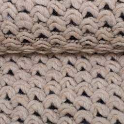 Rest:2,5m x 1,20m Strick Strickstoff Ruth **made in Italy** Wolle meliert naturweiß meliert (1m/6,-€ ) Bild 1