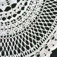 Vintage wollweiße runde gehäkelte Tischdecke, 80 cm Durchmesser, handgehäkelte Decke, Unikat Bild 3