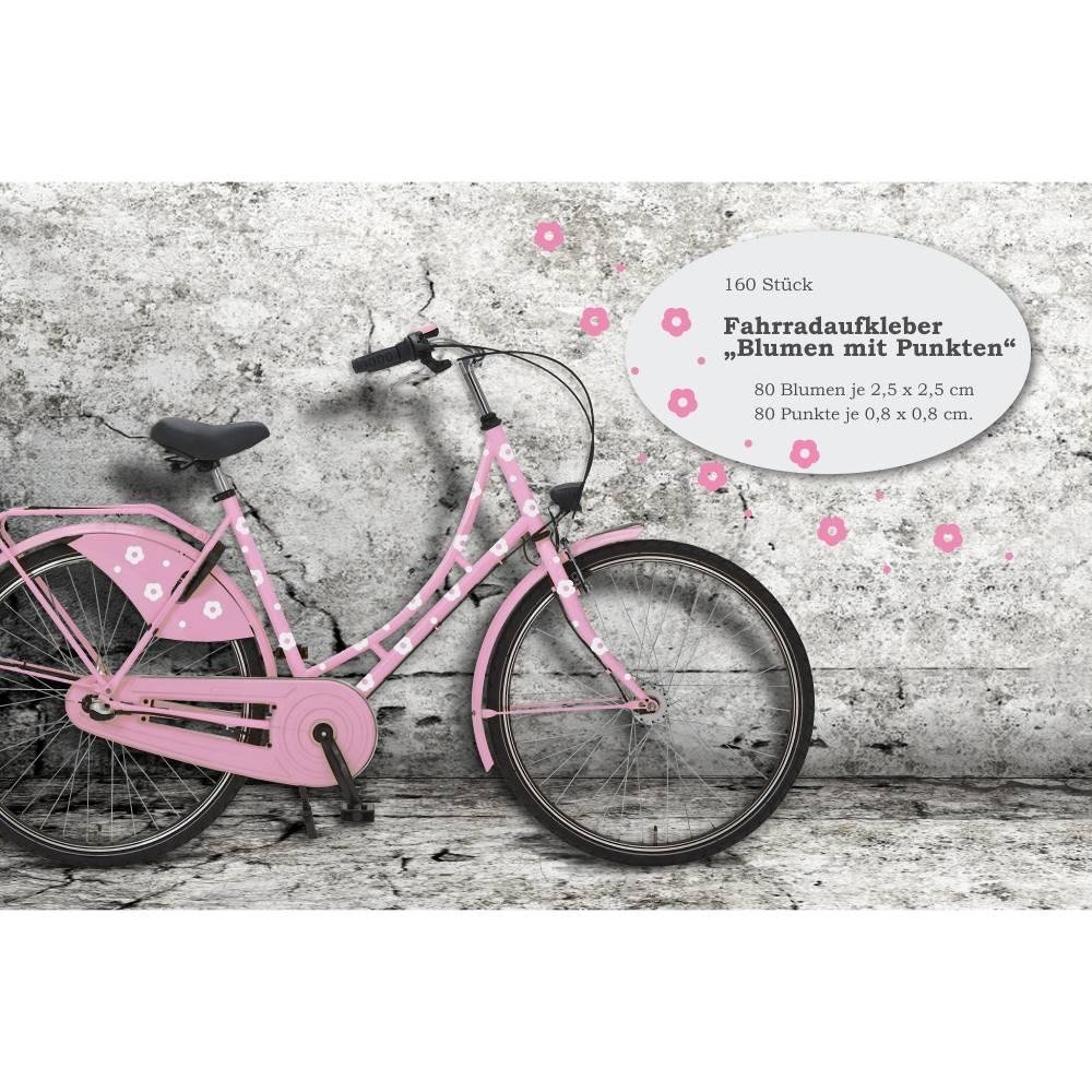 """Fahrradtattoo Fahrradaufkleber /""""Punkte/"""" Dots wasserfeste Sticker für Fahrräder"""