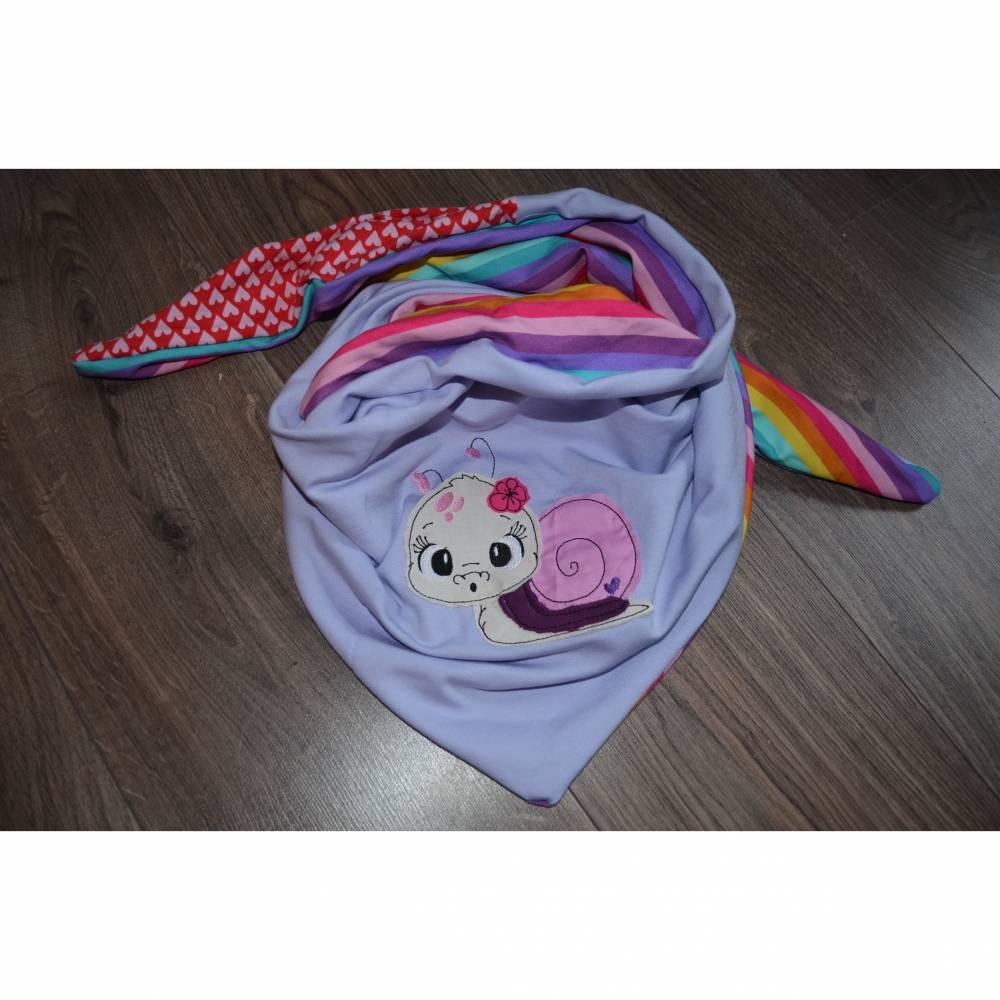 Süßes Kinder Halstuch zum Wenden mit Schnecke Bild 1