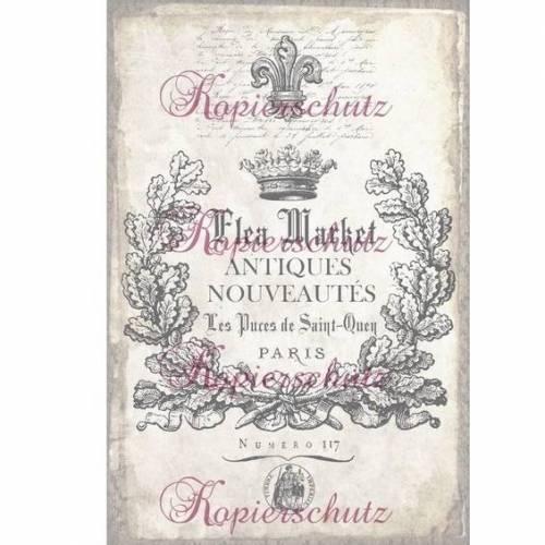 BÜGELBILD~ Label ~ PARIS ~ French ~ Transfer ~ Vintage / Shabby ~ Bügeltransfer ~ No.4