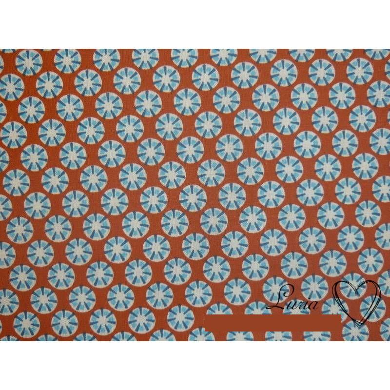 9,50 EUR/m Stoff - Baumwolle retro Blümchen blau - rot Bild 1
