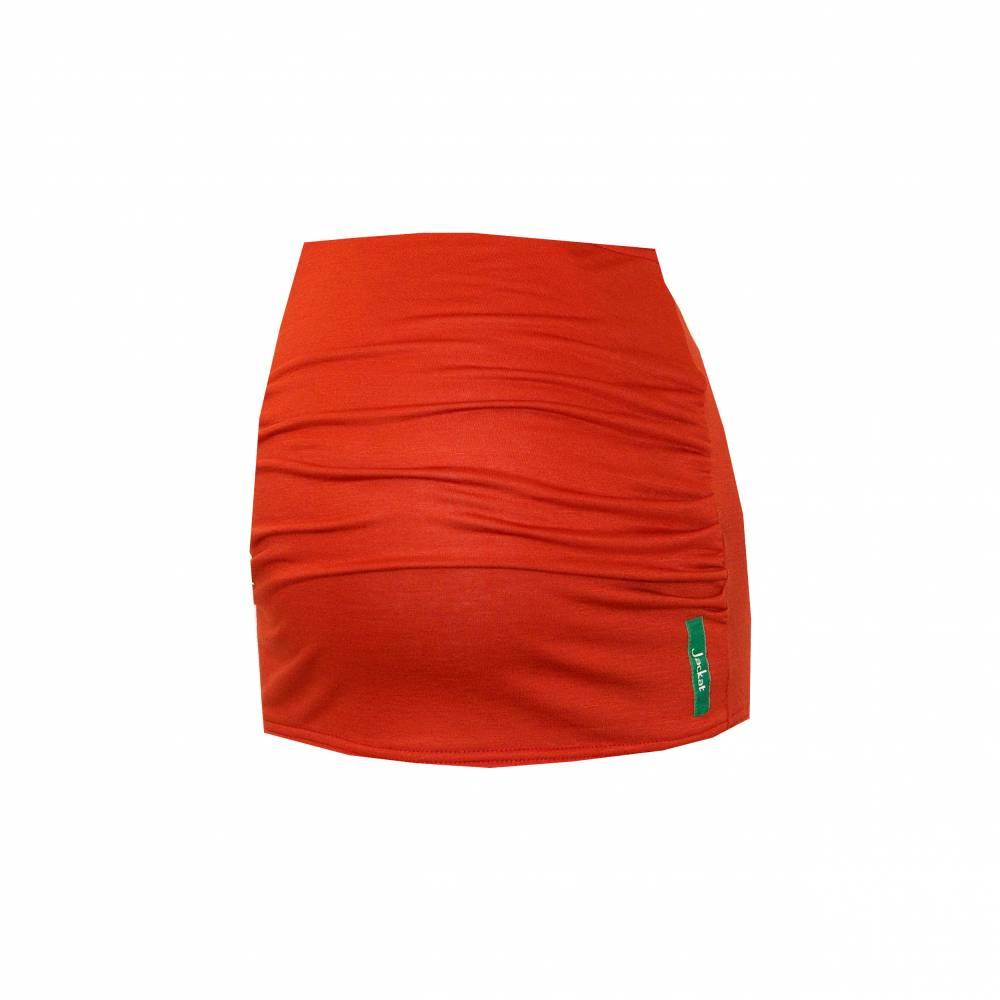 Bauchband ziegelrot orange, Schwangerschaft Sport, Yoga, Bauchtuch Bild 1