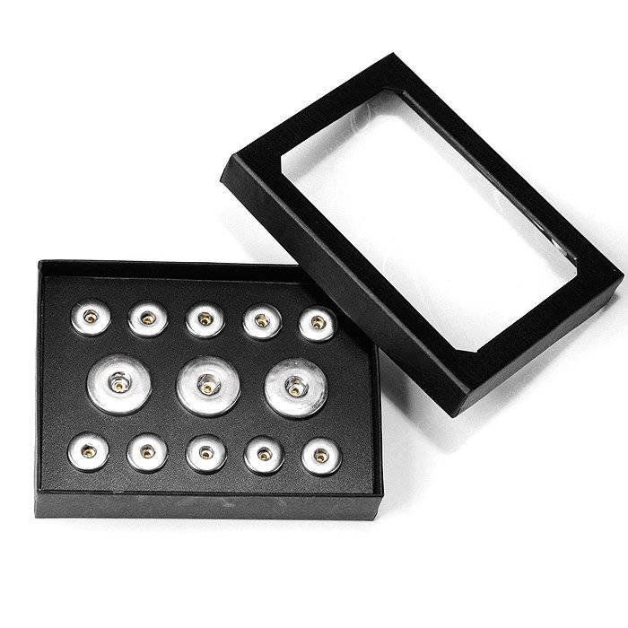 Snap-Schmuckbox, Aufbewahrung, schwarz für M & XL Click-Buttons - Druckknopf-Wechselschmuck Bild 1