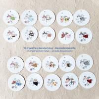runde Geschenketiketten mit kleinen bunten collagierten Engelchen, Mini-Überraschungstüte, VPE: 10 Stück oder 5 Stück Bild 4