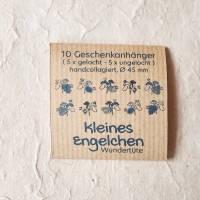 runde Geschenketiketten mit kleinen bunten collagierten Engelchen, Mini-Überraschungstüte, VPE: 10 Stück oder 5 Stück Bild 5