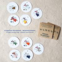 runde Geschenketiketten mit kleinen bunten collagierten Engelchen, Mini-Überraschungstüte, VPE: 10 Stück oder 5 Stück Bild 6