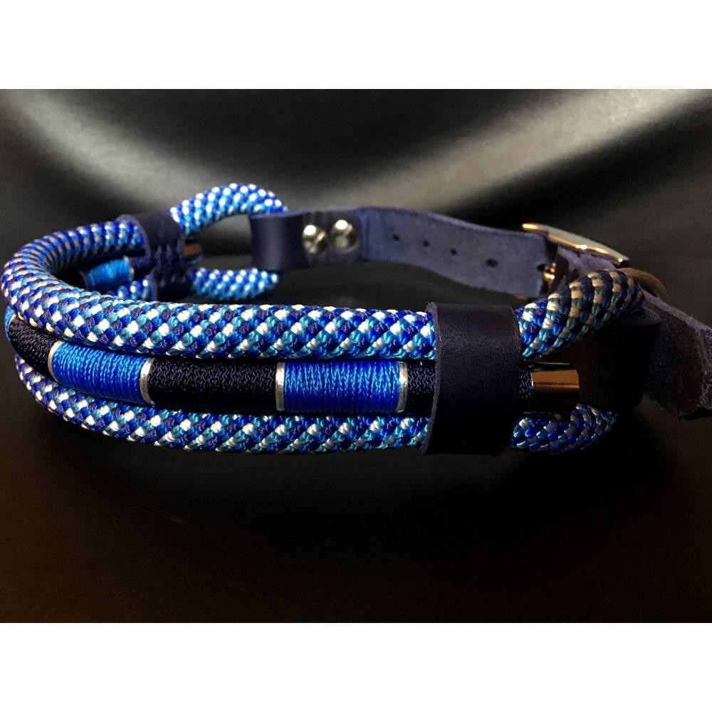 Hundehalsband maritim Marke AlsterStruppi verstellbar sehr edel Bild 1