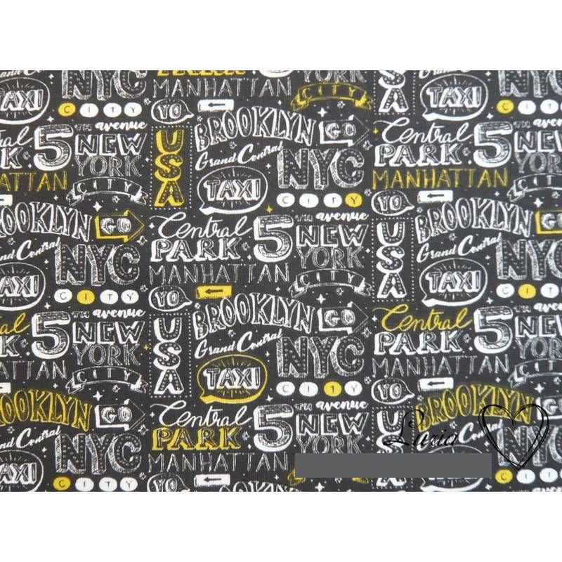 12,30 EUR/m Jersey Baumwolle Manhattan / New York Baumwolljersey Bild 1