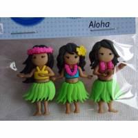 Dress it up Knöpfe  tanzende Mädchen  (1 Pck.) Aloha