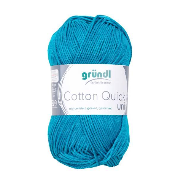 Cotton Quick Uni - 100 % Baumwolle - 50 g Knäuel  - Farbe 143 petrol Bild 1