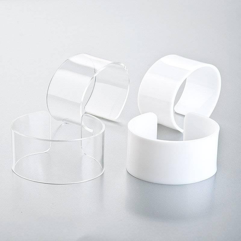 5 Armreif-Schmuckrohlinge zum Selbstgestalten, weiß oder transparent Bild 1
