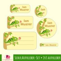 Schulaufkleber-Set | Schmetterlinge lila - 143 teilig, Namensaufkleber, Stifteaufkleber, Adressaufkleber, Heftaufkleber Bild 1