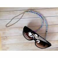 Brillenkette, Brillenband, Brillenschlaufe, Brillenhalter, Kette für Brille, Band für Brille, Sonnenbrillenkette, Sonnenbrillenband, Regenbogenglitzer Bild 1