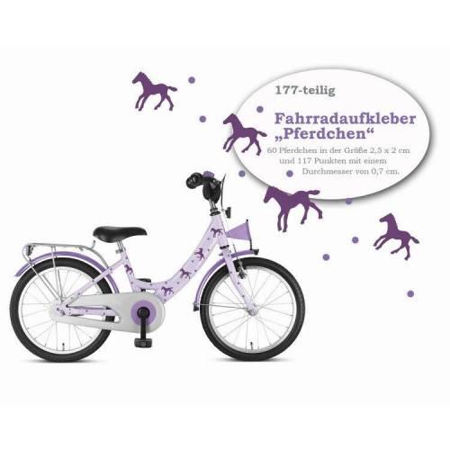 """Fahrradaufkleber """"Pferdchen"""" 177-teilig, Sticker, wasserfeste Fahrradtattoos"""