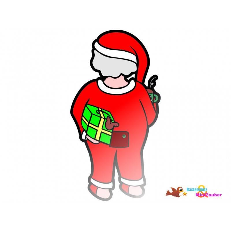 Plotterdatei Weihnachtsmann im Schlafanzug Bild 1