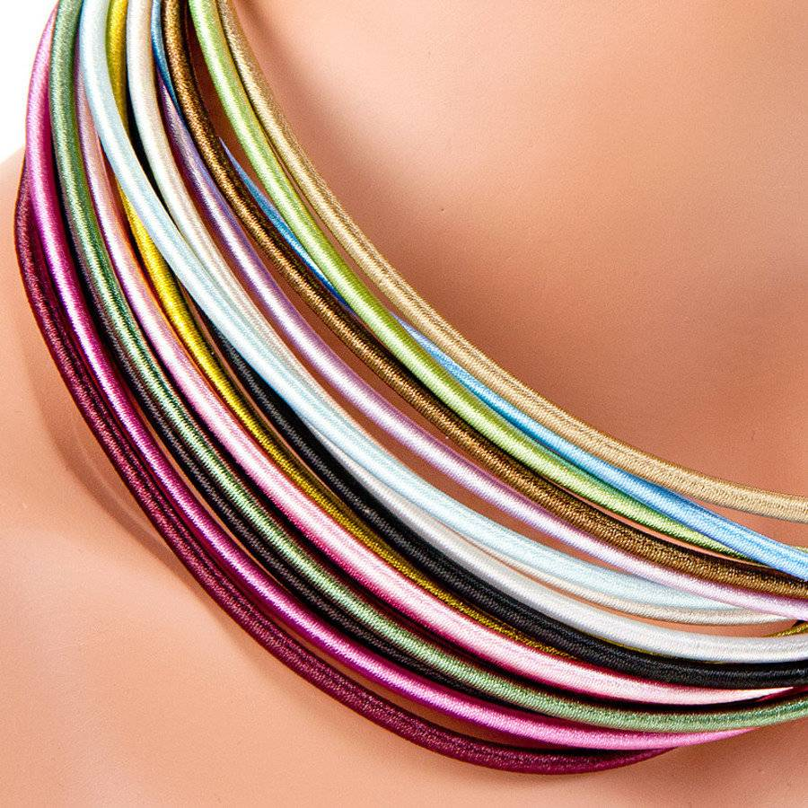 10 Twiney Halsbänder mit Karabinerverschluss, 49,5 cm, farblich gemischt, für die Schmuckherstellung Bild 1