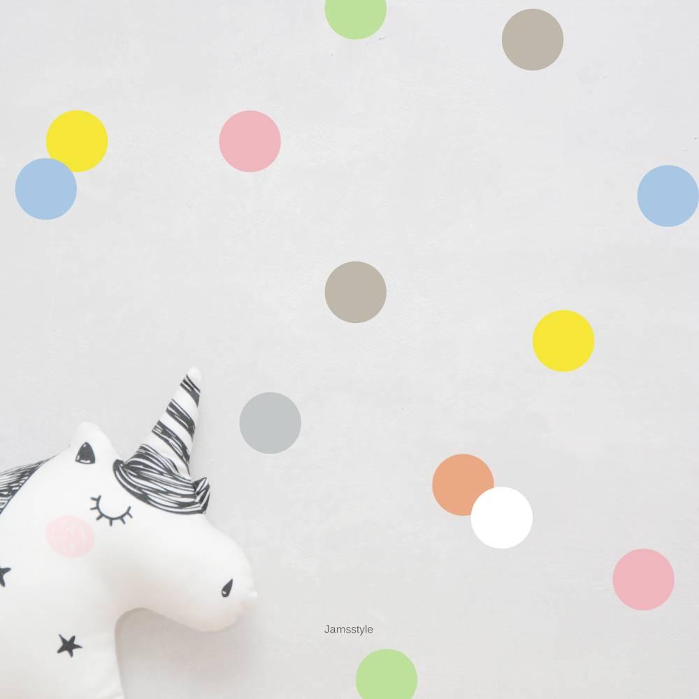 """Wandtattoos Wandsticker """" Bunte Punkte"""" Dots, Konfetti, Polka Dots, Größe wählbar Bild 1"""