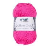 Cotton Quick Uni - 100 % Baumwolle - 50 g Knäuel - Farbe 128 pink Bild 1