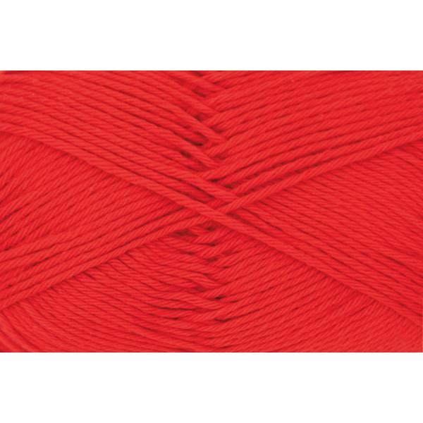 Cotton Fun - 100 % Baumwolle - 50 g Knäuel  - Farbe 06 signalrot Bild 1