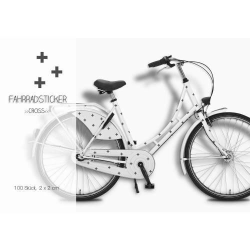 """Fahrradsticker, Aufkleber """"Cross"""" 100 Stück, wasserfeste Fahrradtattoos Kreuze"""