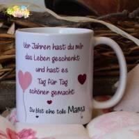 Tasse - Mama, vor Jahren hast du mir das Leben geschenkt Bild 1