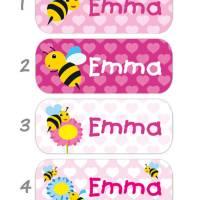 52 Namensaufkleber | Biene - 2 x 5 cm Bild 2