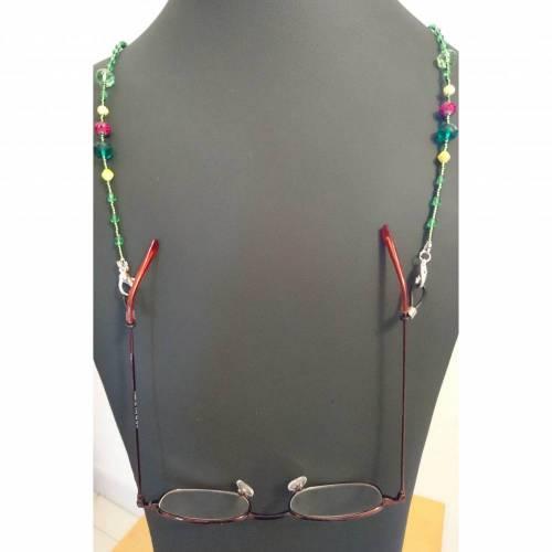 """Brillen- oder Maskenkette """"Aprilgarten"""""""