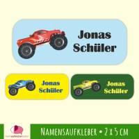 52 Namensaufkleber | Monstertruck - 2 x 5 cm Bild 1